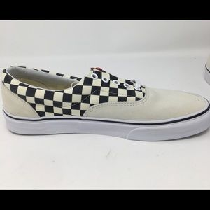 NEW Mens Vans Era Black Check White Suede, 10.5